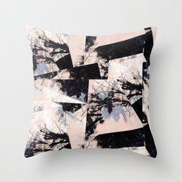 Beige et bois Throw Pillow