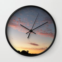 Pink California Sunset Wall Clock