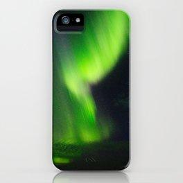 Icelandic northern lights iPhone Case