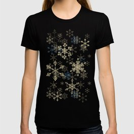 Snowflake Crystals in Gold T-shirt