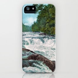 Raquette Falls - Adirondack Mountains - 1902 Photochrom iPhone Case