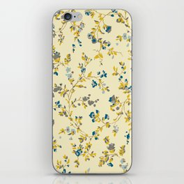 vintage floral print iPhone Skin