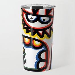 Cool Loving Graffiti Street Art Monster with Flowers  Travel Mug
