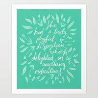 pride and prejudice Art Prints featuring Pride and Prejudice by IndigoEleven