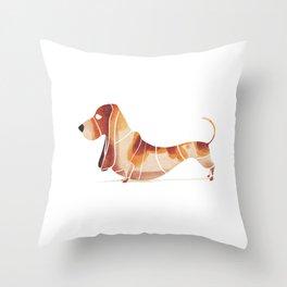 basset Throw Pillow