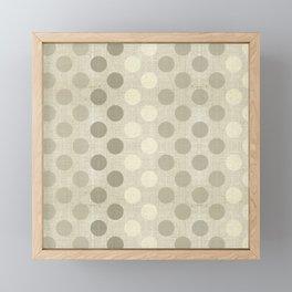 """Nude Burlap Texture and Polka Dots"" Framed Mini Art Print"