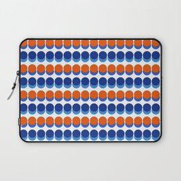 Vibrant Blue and Orange Dots Laptop Sleeve