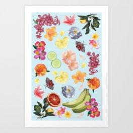 Fruit & Floral 2 Art Print