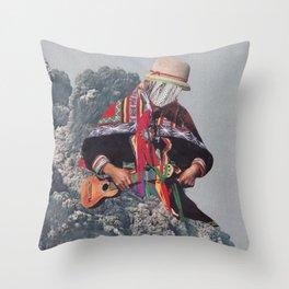 Seismic Wave Throw Pillow