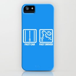 Fast Car - Fast Driver v4 HQvector iPhone Case