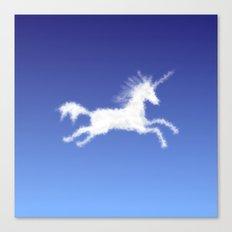 Cloudy Unicorn Canvas Print