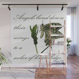 Angels Bend Down Their Wings To A Seeker Of Knowledge Wall Mural