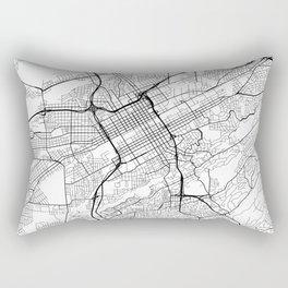 Birmingham Map, USA - Black and White Rectangular Pillow