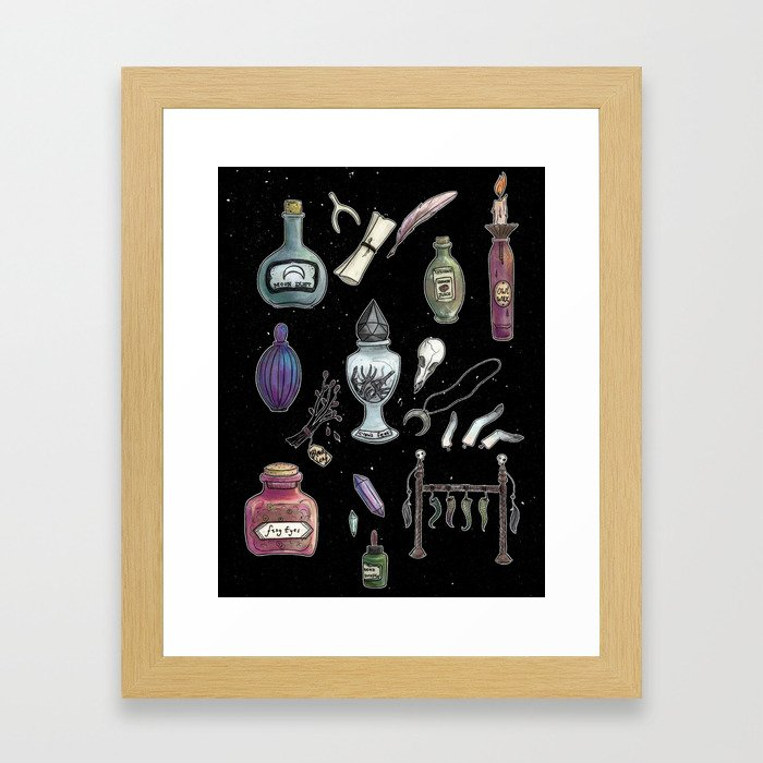 Witches' Stash Framed Art Print