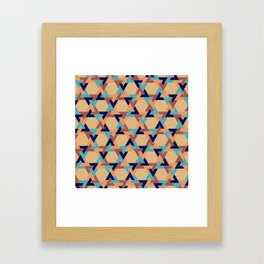 Geometric pattern 1977 Framed Art Print