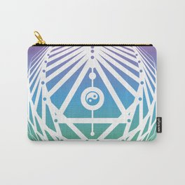 Radiant Abundance (cool gradient-white) Carry-All Pouch