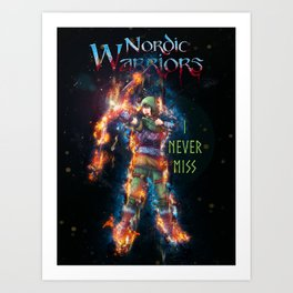 The Archer Color from Nordic Warriors Art Print