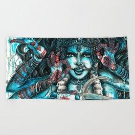 Goddess Kali Beach Towel