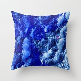 Abstración Océanica Azul Throw Pillow