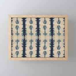 Shibori Flowers Framed Mini Art Print