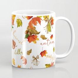 Autumn Leaves Hello Fall! Coffee Mug
