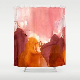 abstract painting X Shower Curtain