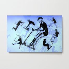It's All About The Scooter! - Scooter Tricks Metal Print