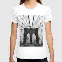brooklyn bridge T-shirts featuring Brooklyn Bridge by C.Rhodes Design