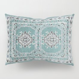 Traditional rug in denim blue Pillow Sham