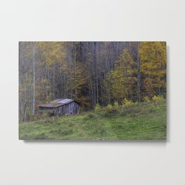 Autumn Barn in the Smoky Mountains Metal Print