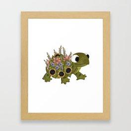 Floral Tortoise Framed Art Print