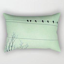 Birds on a Wire, no. 7 Rectangular Pillow