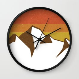 rocky mountains and fall sun Wall Clock