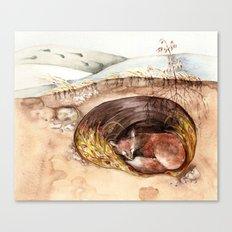 Fox's Den Canvas Print