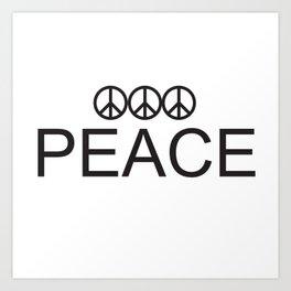 3 Peace Art Print