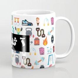 Athlete Icons Arabic Coffee Mug