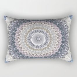 Crystal Blue Skies Mandala Rectangular Pillow