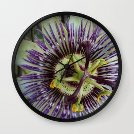 Passionfruit flower Wall Clock