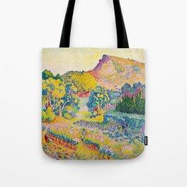Henri-Edmond Cross Neo-Impressionism Landschaft mit Le Cap Nègre Paysage avec le cap Nègre Tote Bag