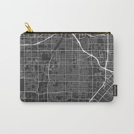 Santa Ana Map, USA - Gray Carry-All Pouch