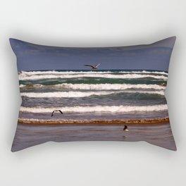 Seagulls Among the Waves Rectangular Pillow