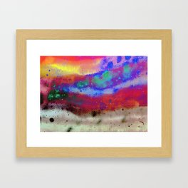 Kraft Paper Colorful Abstract Framed Art Print