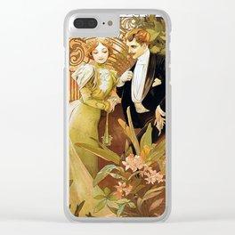 Alphonse Mucha Flirt Vintage Romantic Art Nouveau Clear iPhone Case