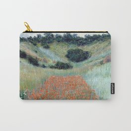 1885-Claude Monet-Poppy Field in a Hollow near Giverny-65 x 81 Carry-All Pouch
