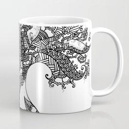 Unity of Halves - Life Tree - Rebirth - Black White Coffee Mug