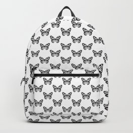 Monarch Butterfly Pattern | Black and White Backpack