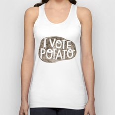 I VOTE POTATO Unisex Tank Top