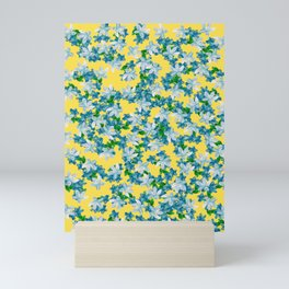 Summer Flowers Yellow Mini Art Print