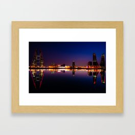 Bahrain Bay at night Framed Art Print