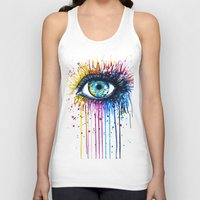 "galaxy Tank Tops featuring ""Rainbow Eye"" by PeeGeeArts"